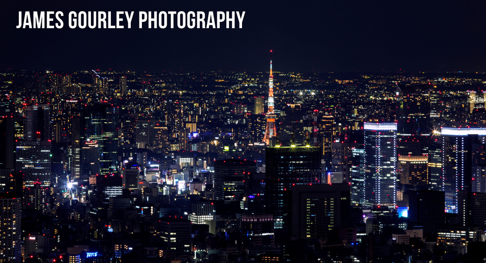 Tokyo Tower seen from the Tokyo Skytree
