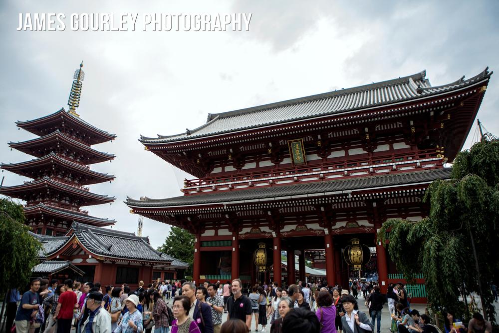The Sensoji Temple in Asakusa