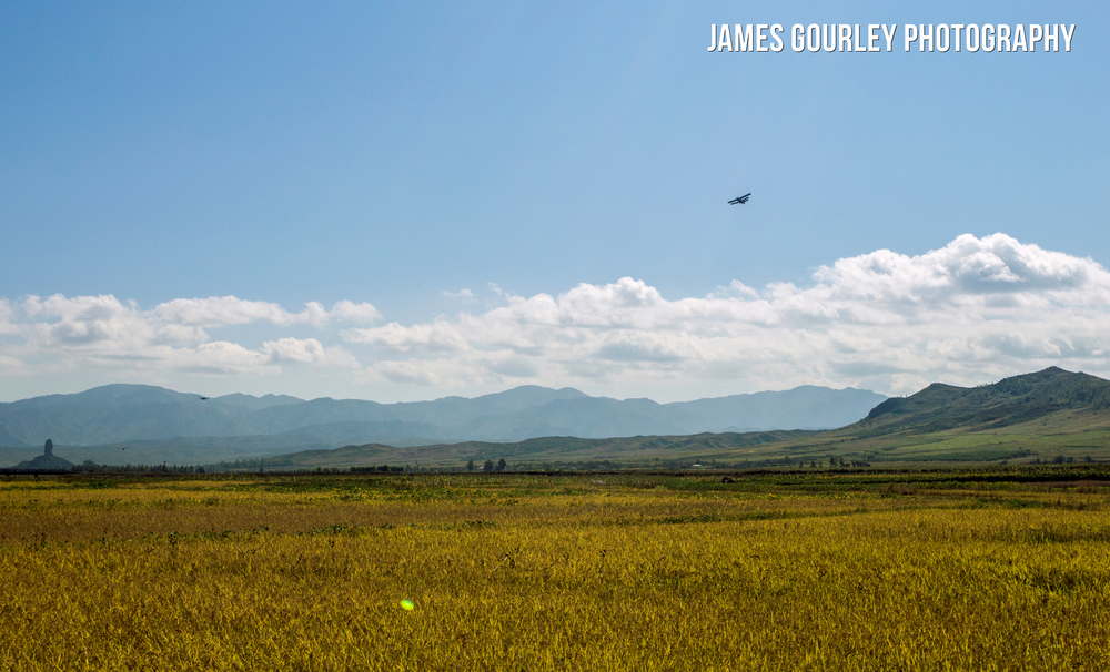 Korean People's Army (KPA) Air Force Antonov AN-2 bi-planes fly low over corn fields. The Soviet made plane is specialised at low and slow flying and is mostly made from wood and canvas making it difficult to track and target which means it is ideal for special forces insertions behind enemy lines