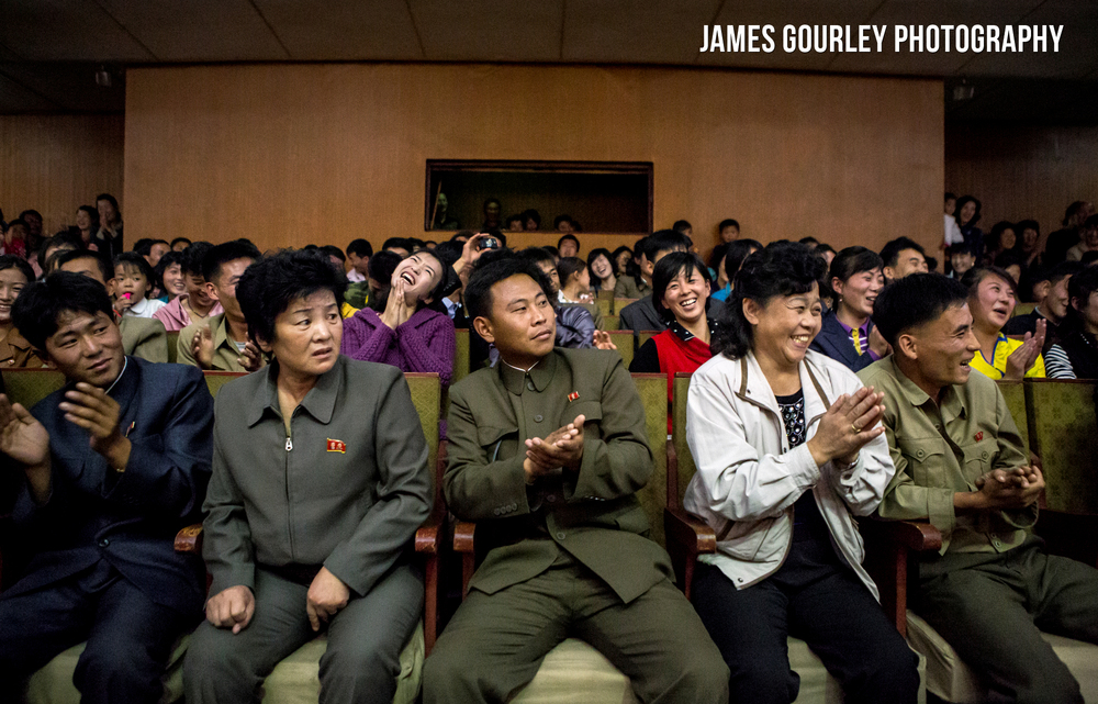 North Koreans react to a western visitor being picked out of the crowd to dance with the performer (video below...). Which was a genuine highlight, I have never seen a crowd react with such joy (except the one lady in the photo above).