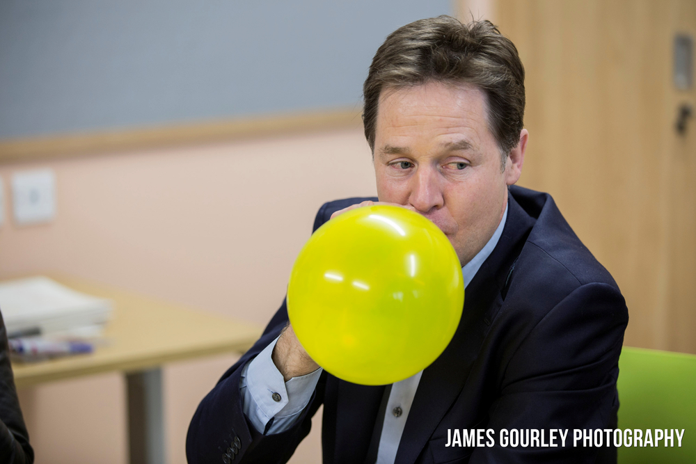 14/03/2015 Liverpool, UK. Deputy Prime Minister and Leader of the Liberal Democrats Nick Clegg visited Clock View Hospital today ahead of his announcement of an extra £1.25bn in funding for Mental Health services in next weeks budget. Photo by James Gourley/Liberal Democrats