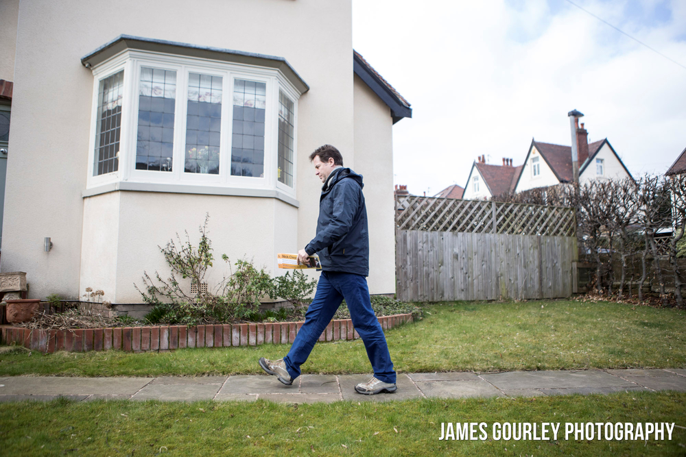 21/03/2015 Sheffield, UK. Nick Clegg canvassing in Sheffield Hallam.  Photo by James Gourley/Liberal Democrats