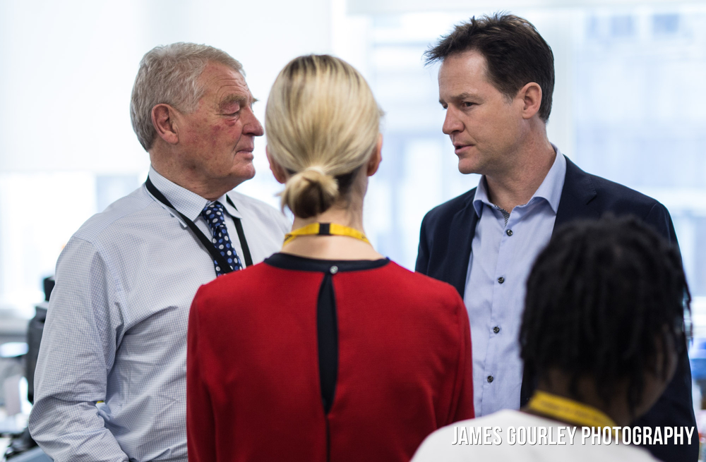 30/03/2015. Westminster, UK. Deputy Prime Minister and leader of the Liberal Democrats Nick Clegg at Lib Dem HQ in London today (30/03) before going to Buckingham Palace to lead the final meeting of the Privy Council of this Parliament. Photo by James Gourley/Liberal Democrats
