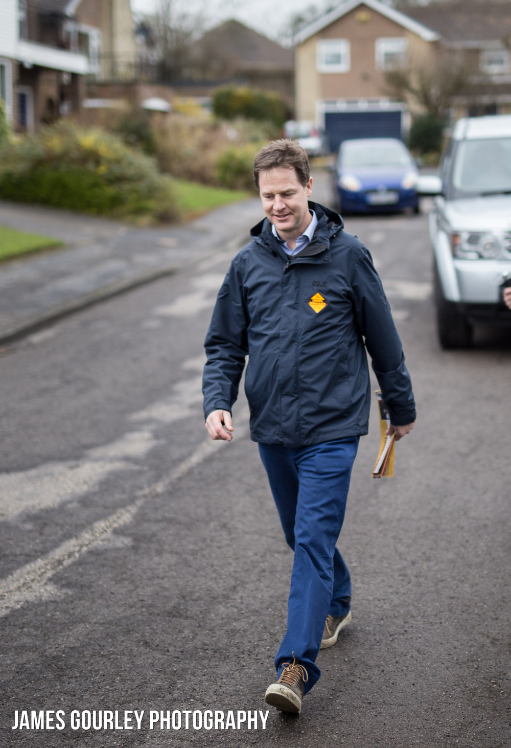 03/04/2015. Sheffield, UK. The Deputy Prime Minister and Leader of the Liberal Democrats Nick Clegg canvassing in Sheffield Hallam. Photo by James Gourley/Liberal Democrats