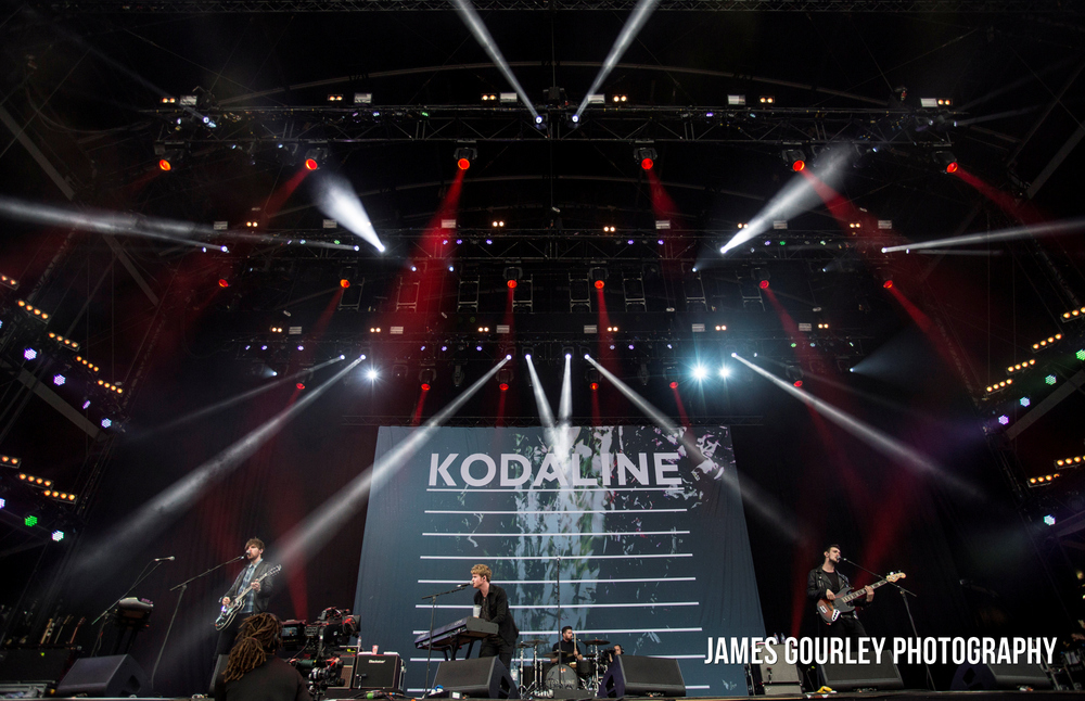 Kodaline performing on the Main Stage at the Isle of Wight Festival 2015.