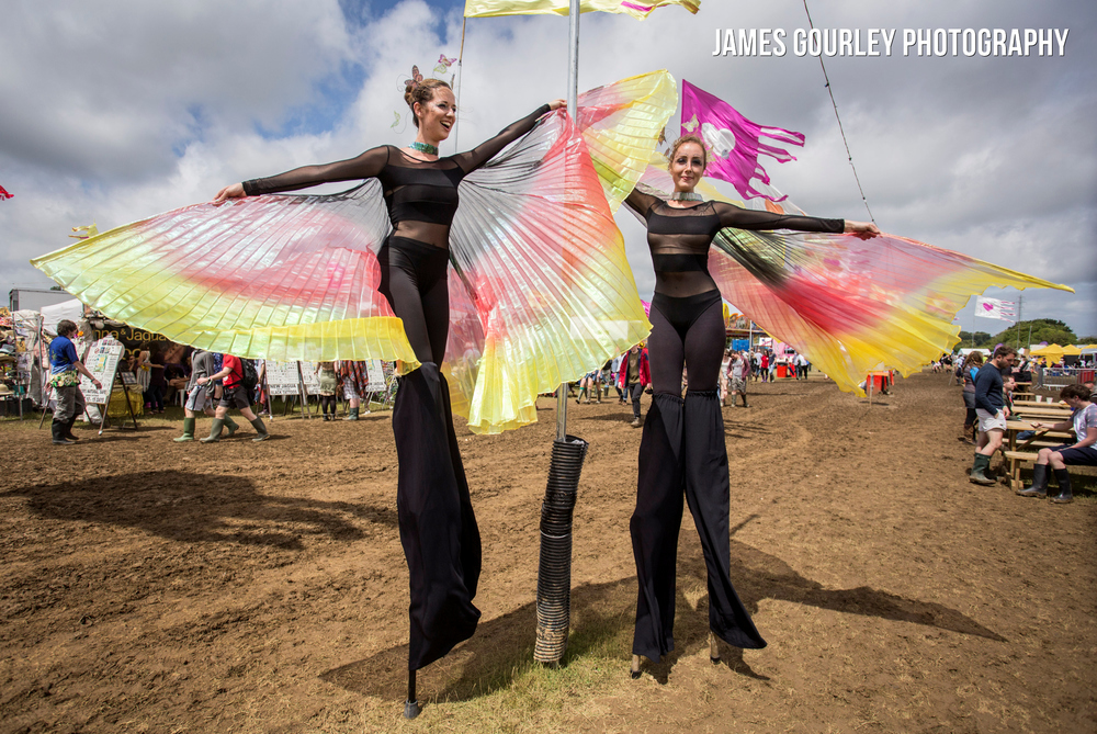 Sophie Francesa Oliva and Jo-Anna Davie (L-R) in costume at the Isle of Wight Festival 2015