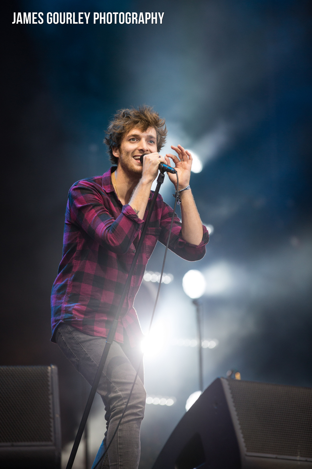 Paolo Nutini performing on the Main Stage at the Isle of Wight Festival 2015