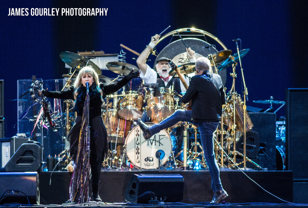 Fleetwood Mac performing on the Main Stage at the Isle of Wight Festival 2015