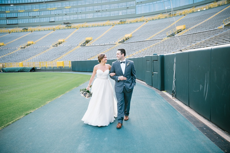 Karen Ann Photography Milwaukee WI Wedding Photographers Door County and Kohler Wedding Reception at Lambeau Field Green Bay Packers Stadium Legends Club Room