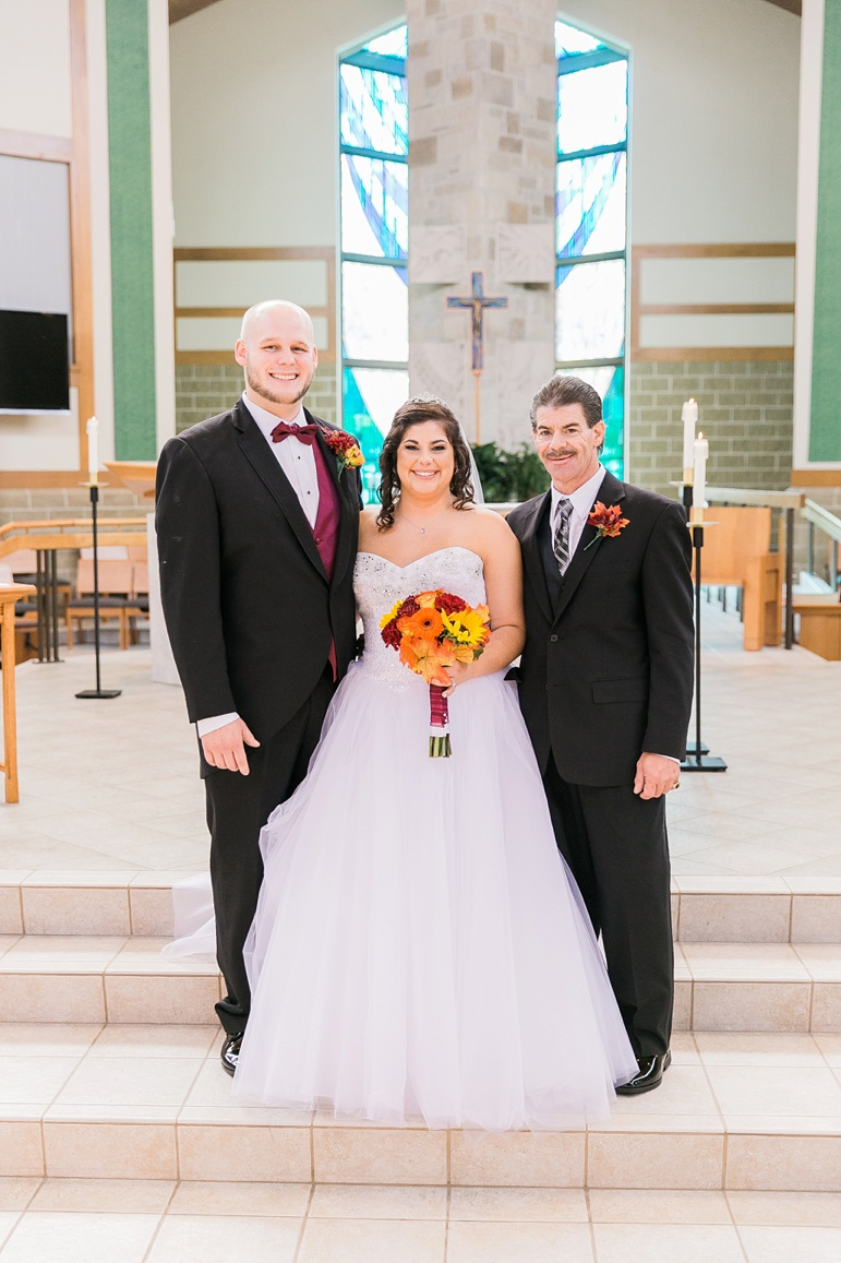 Brillion Wedding Photographer St. Peter the Fisherman Catholic Church, Cobblestone Creek
