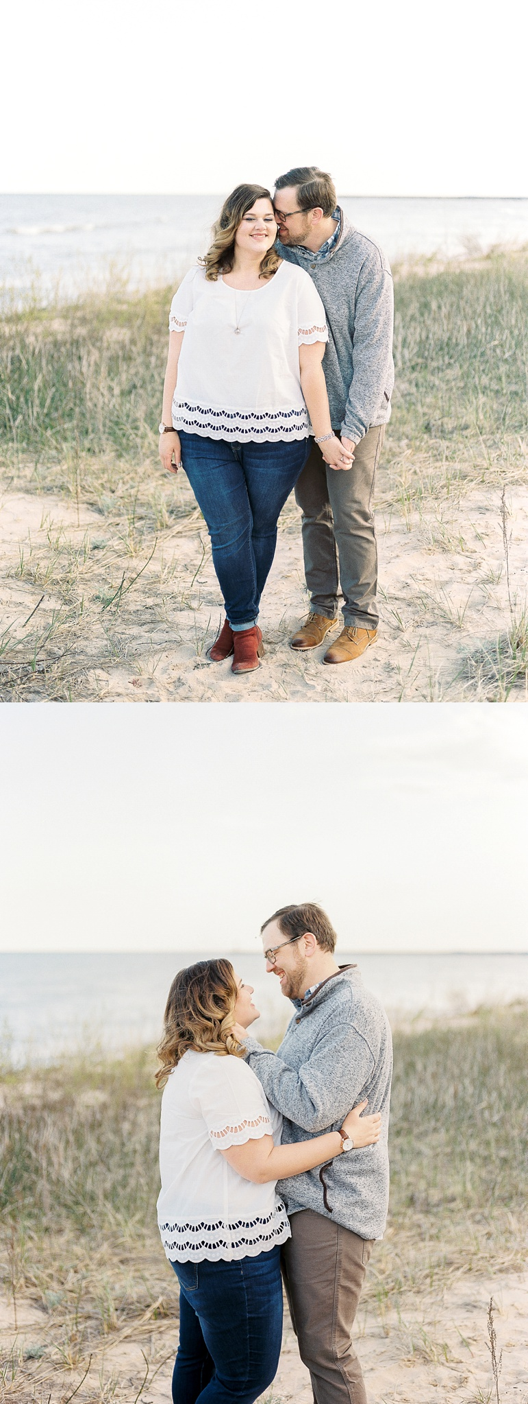 Door County Wisconsin Beach Engagement Pictures