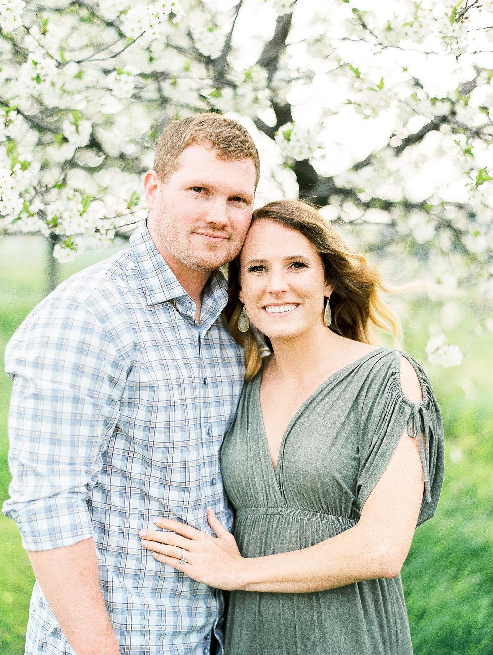 Sheboygan Wisconsin Apple Blossom Engagement Photos, Kohler Wedding Photographers