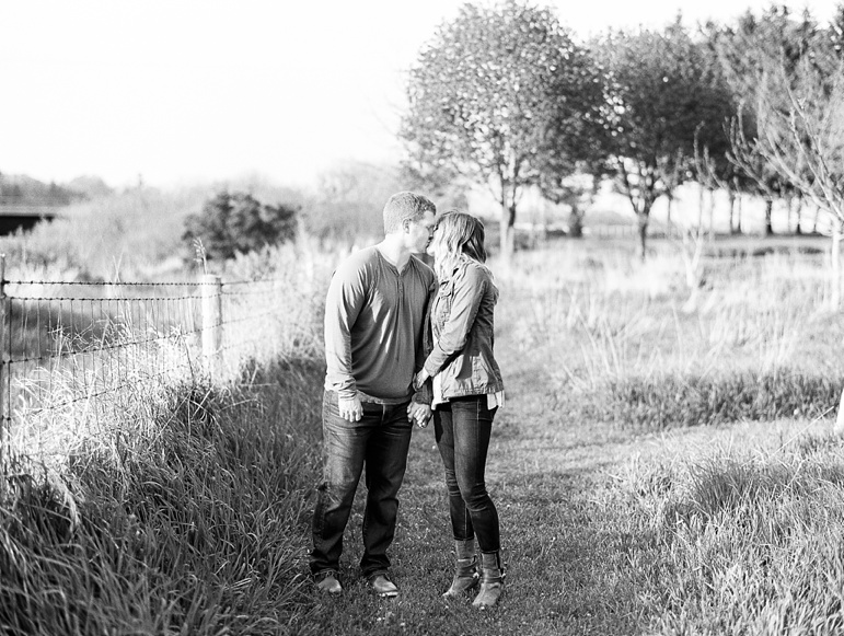 Sheboygan Wisconsin Apple Blossom and Whistling Straits Golf Course Engagement Session