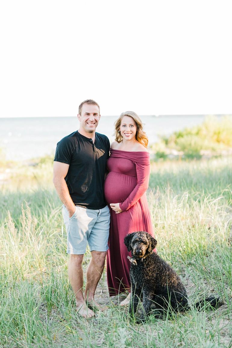 Wisconsin Beach Maternity Photos