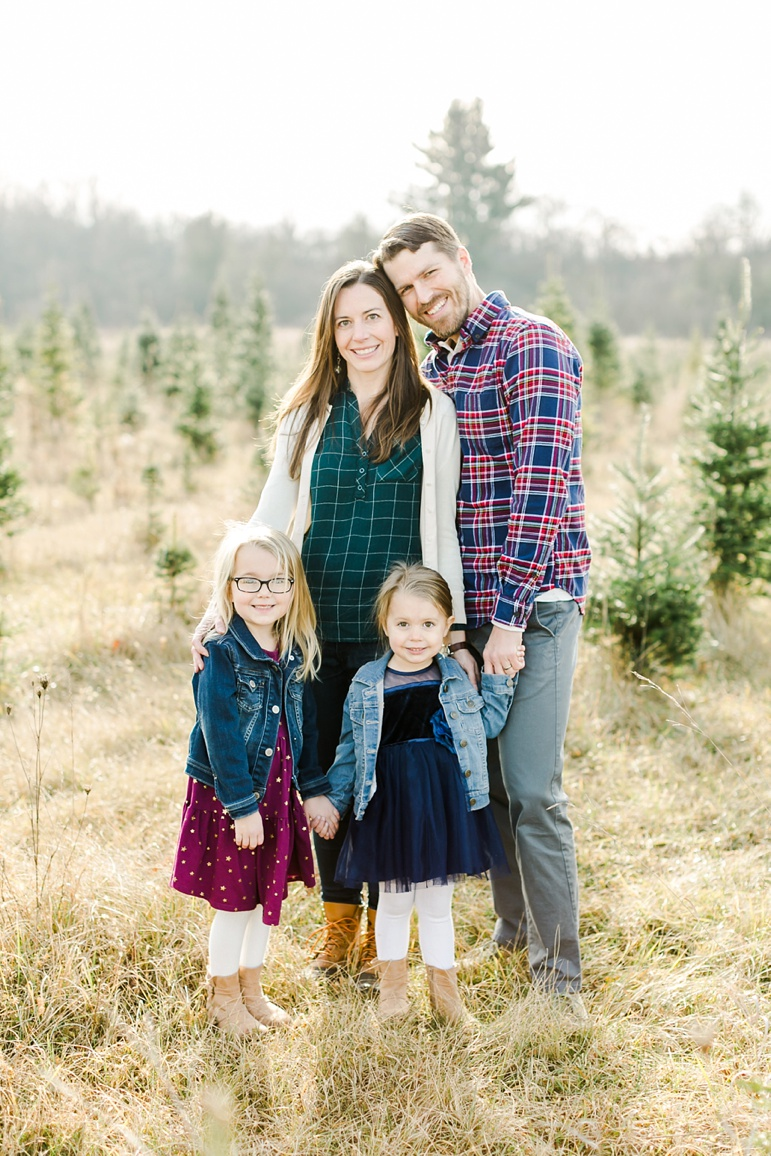 Winter Family Photos in Green Bay Wisconsin
