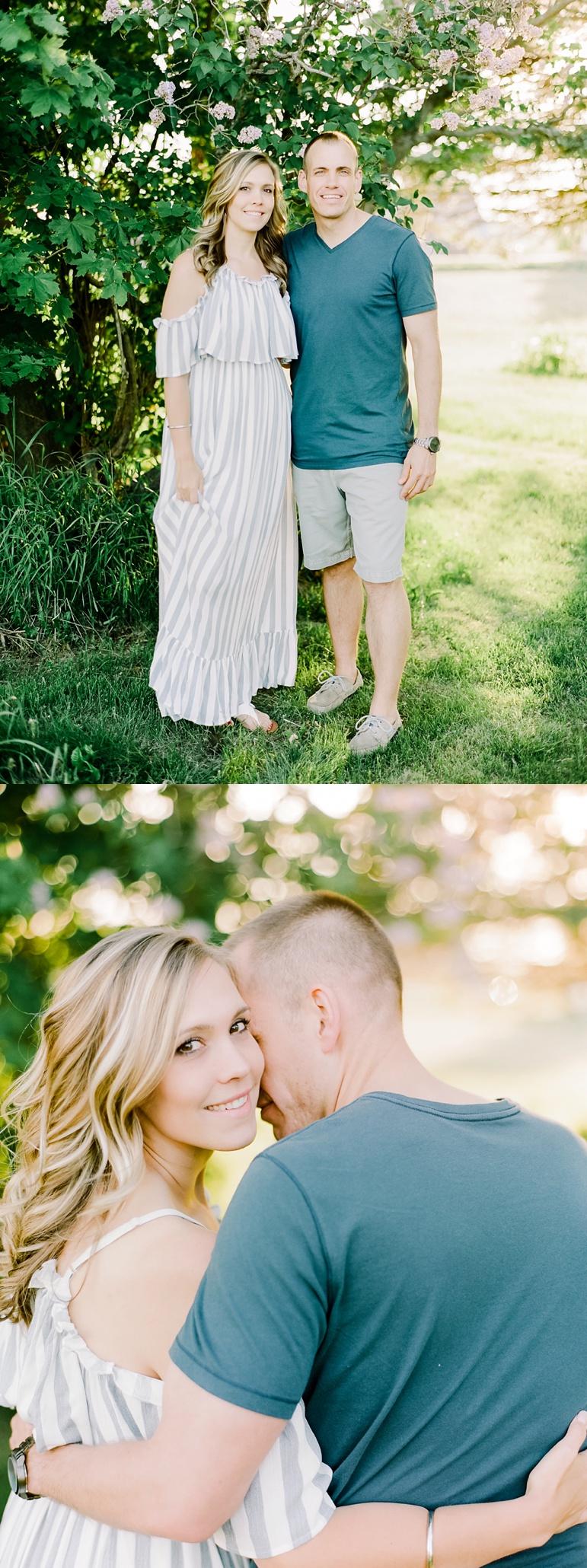 Manitowoc Wisconsin Sunset Engagement Photos