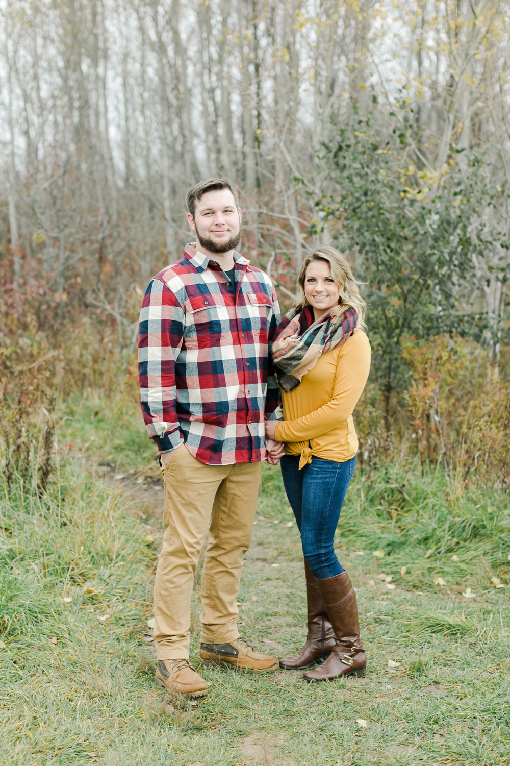 Fall Engagement Photos Milwaukee