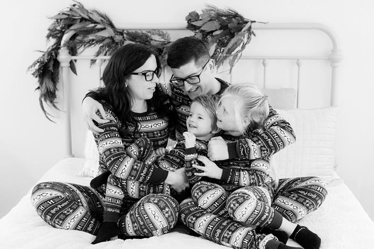 Green Bay Family Pajama Photos
