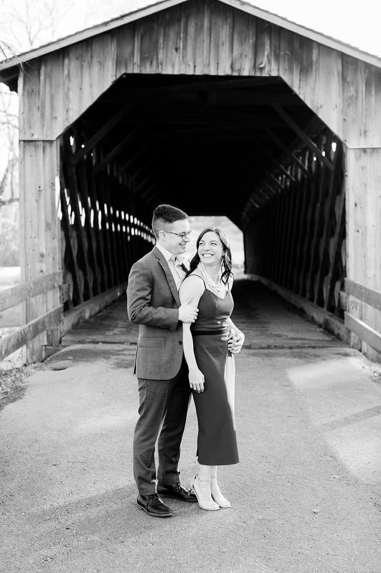 Cedarburg Covered Bridge Engagement Photos