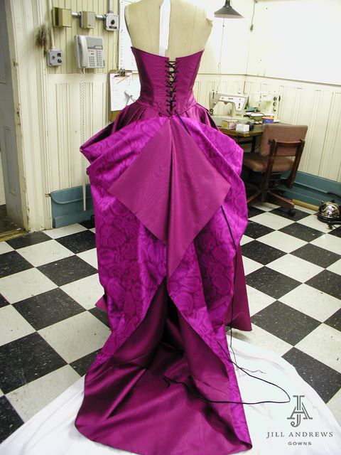 Pink custom evening dress