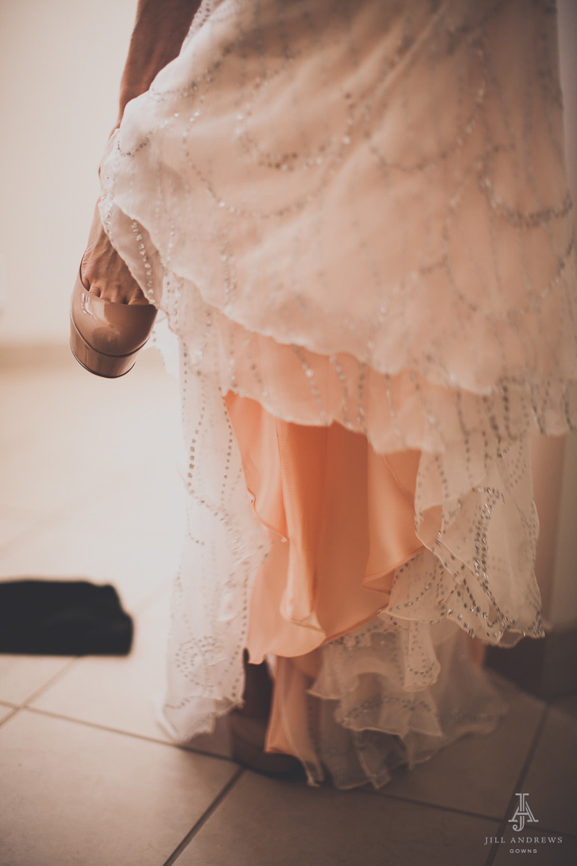 Blush bridal skirt