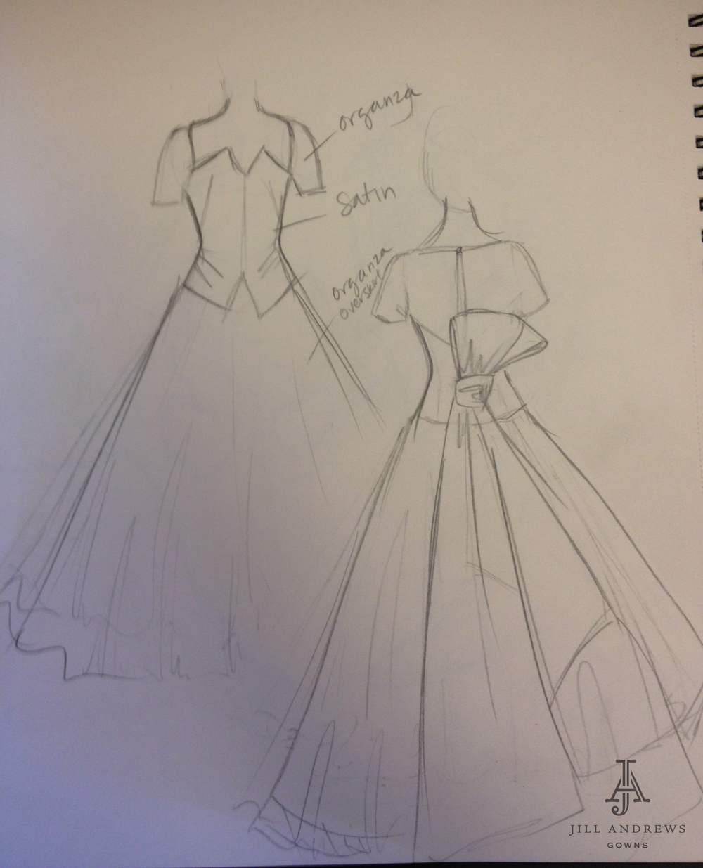 sketch of wedding dress