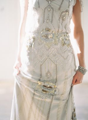 Art Deco Wedding Dress Mood Board | Silver Sequin Dress