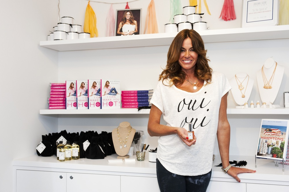 Kelly Bensimon with her perfume -In The Spirit Of- at Cakewalk Style Shop.jpg