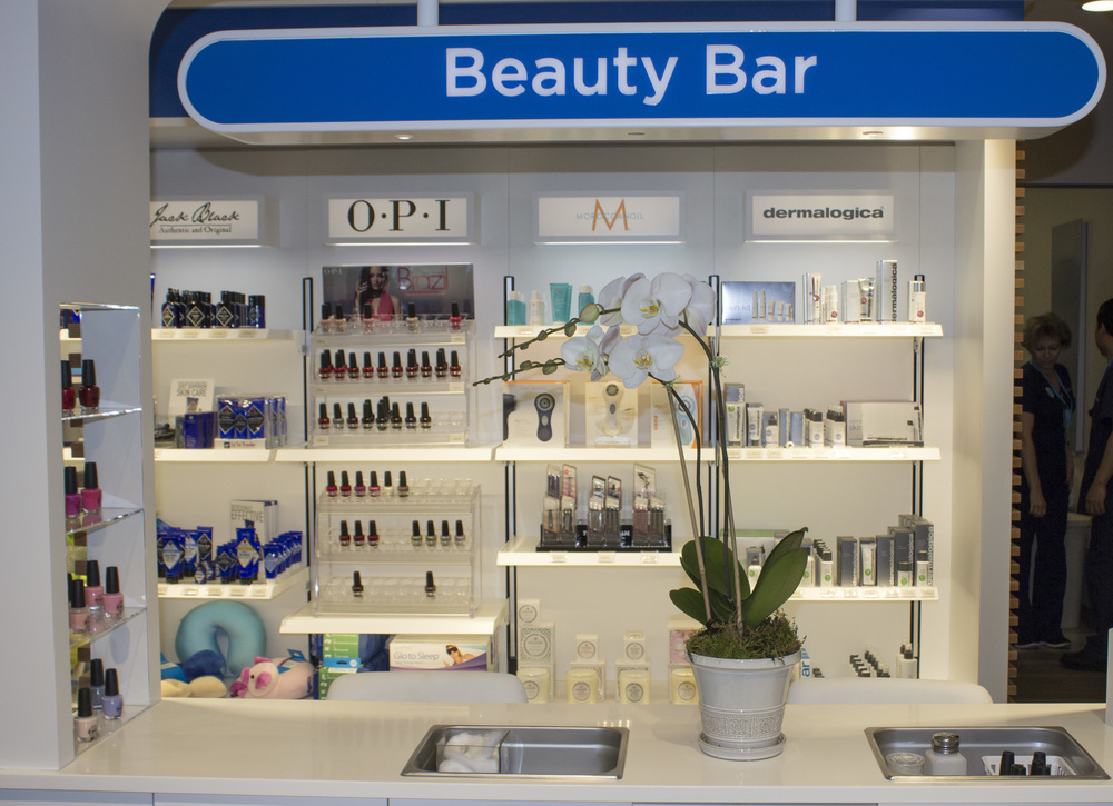 Beauty Bar at Be Relax in JetBlue's T5.