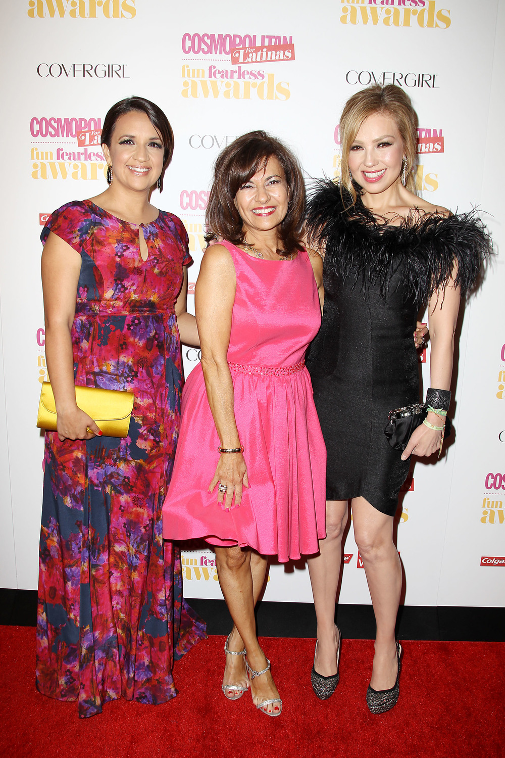 From left to right: Cosmo For Latinas Editor-in-Chief Michelle Mulligan, Publisher Donna Lagnai, Actress/Singer Thalia  Photo Credit: Adriana Stan