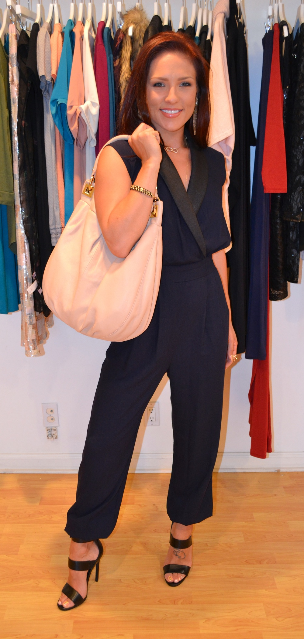 Ali Landry and Sharna Burgess sporting the perfect summer accessory Emma & Sophia Pebble Leather Satchel benefiting the Ovarian Cancer Research Fund duringQVCPresents SuperSaturdayLIVE onJuly 26th at 2pm EST (Photo:Brenda Souza)