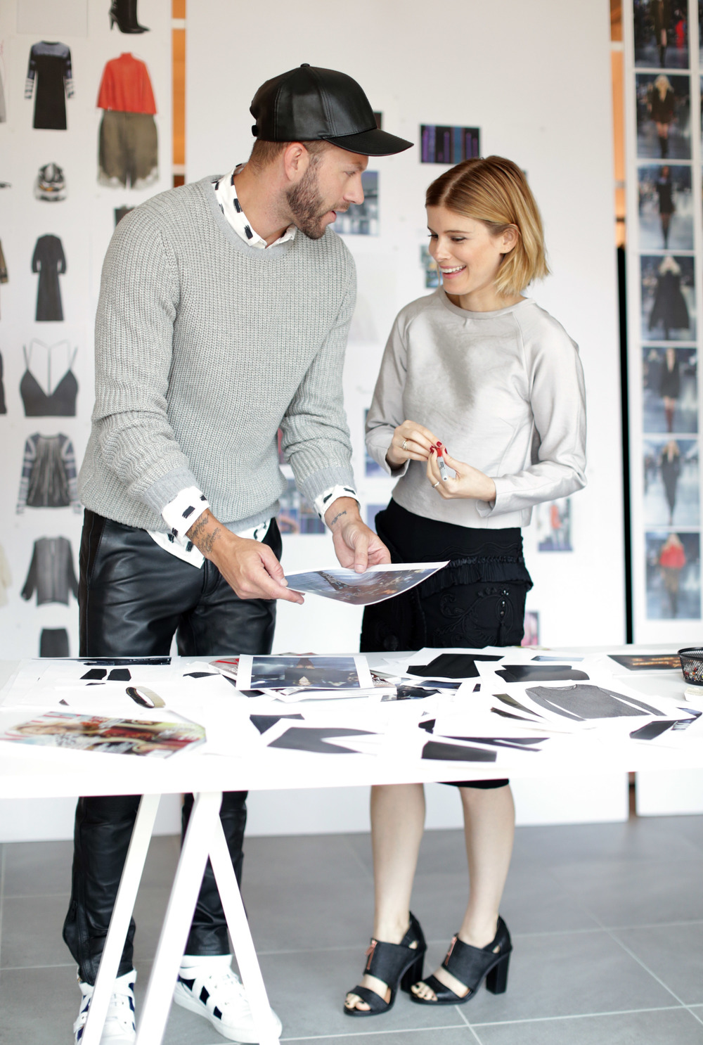 H&M collab actor Kate Mara and celebrity stylist Johnny Wujek