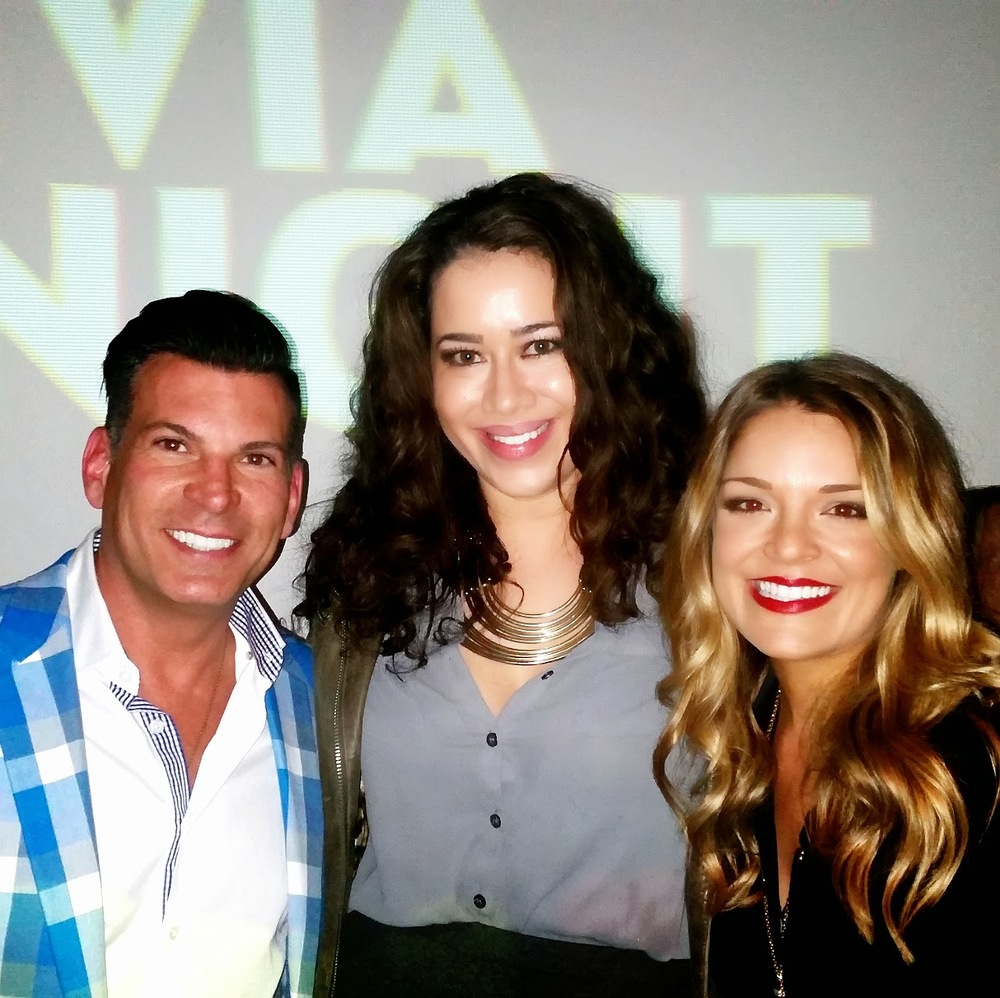 David Tutera, Yours Truly and Sabrina Soto talking finance.