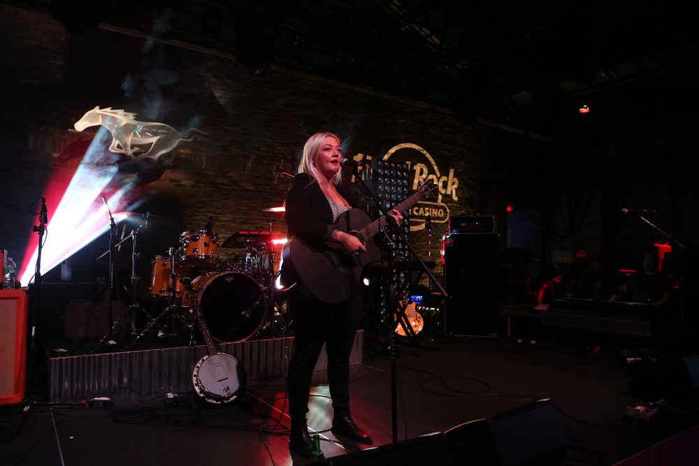 Elle King preform at the Ford and Hard Rock Hotels & Casinos event, 'The Mustang Roadhouse' in New York City.JPG