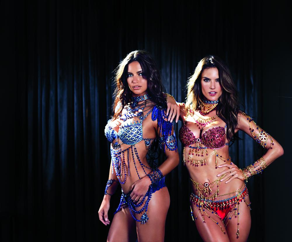 TWO $2 million dollar bras worn by Adriana Lima & Alessandra Ambrosio