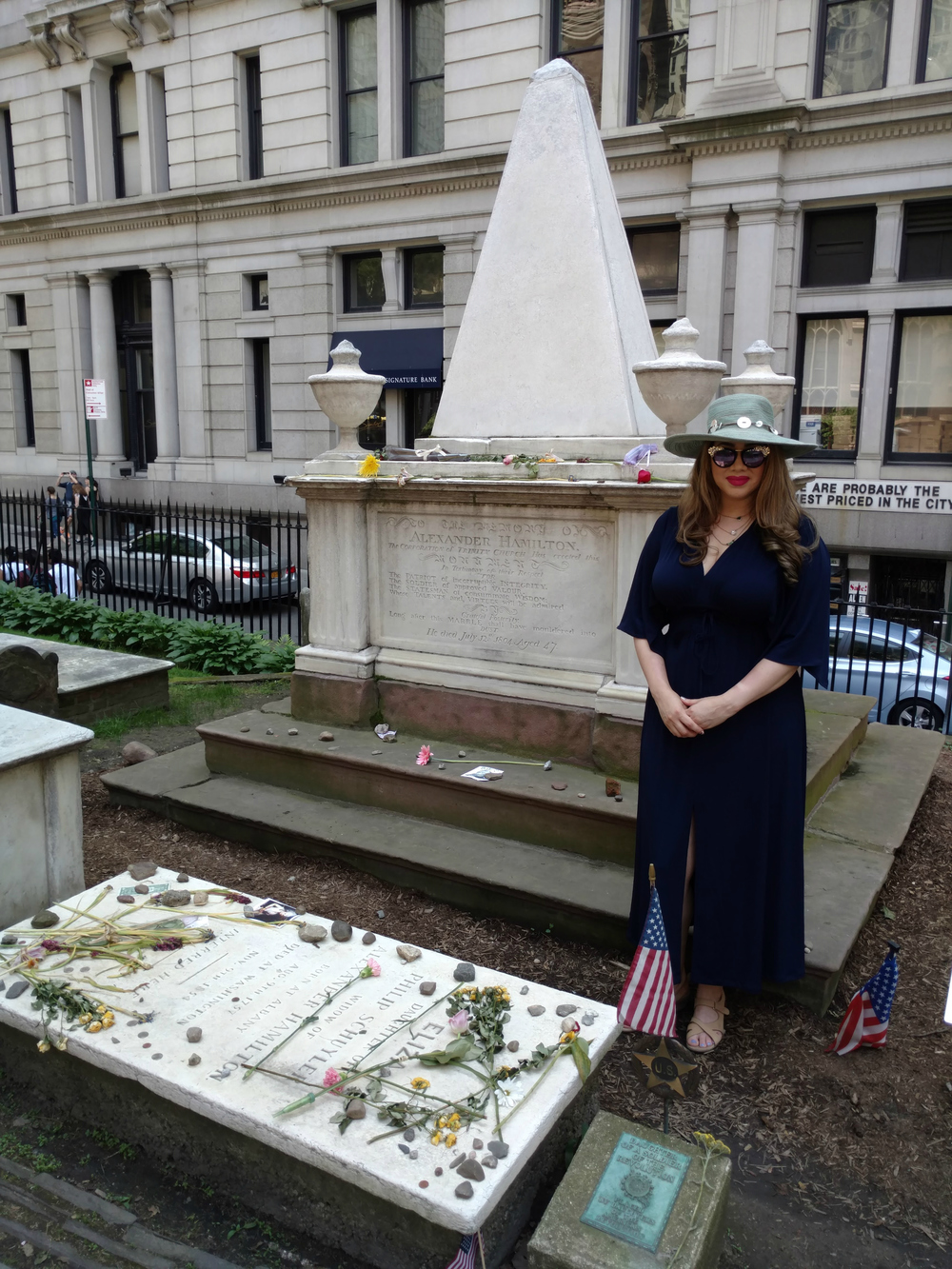 LeAura visiting Trinity Church Cemetery