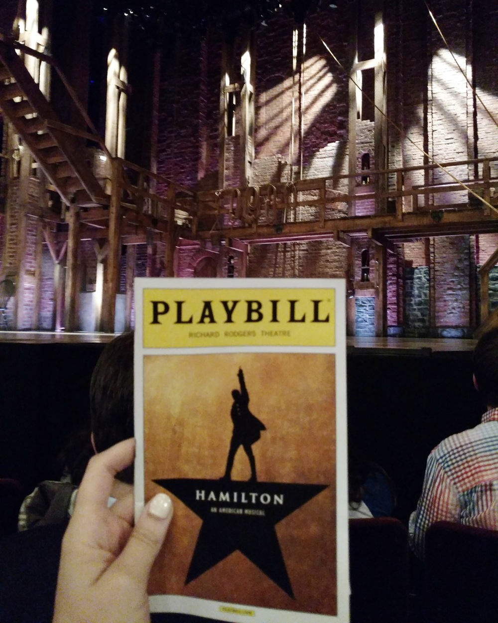 Hamilton at the Richard Rodgers Theatre