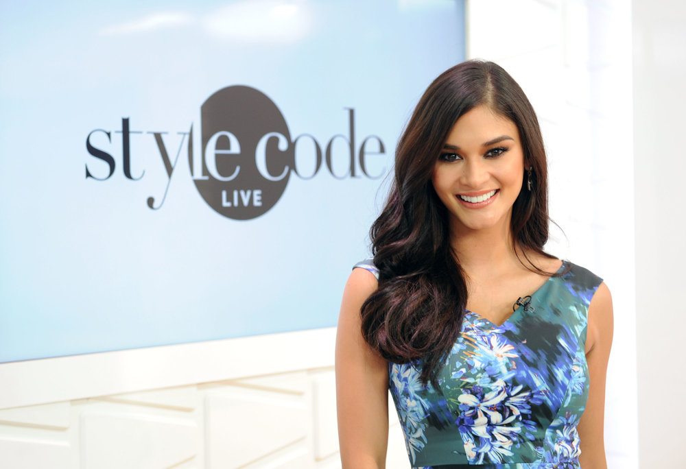 Image: Craig Barrett for Getty Images Miss Universe 2015 Pia Wurtzbach Films an Episode of Amazon's Style Code Live Airing on January 19, 2017