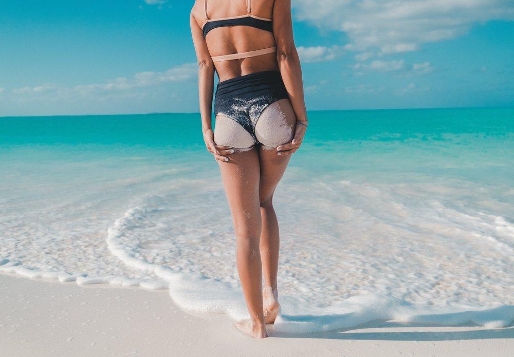 bikini sand beach legs shaving