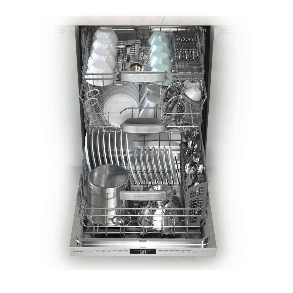 Bosch 800 Dishwasher MyWay 3 rack loaded.jpg