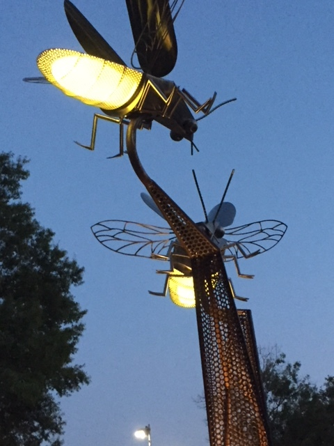 The Firefly Field public art installation at Woodland Park in Houston, Texas. A project of the Friends of Woodland Park and our generous donors.
