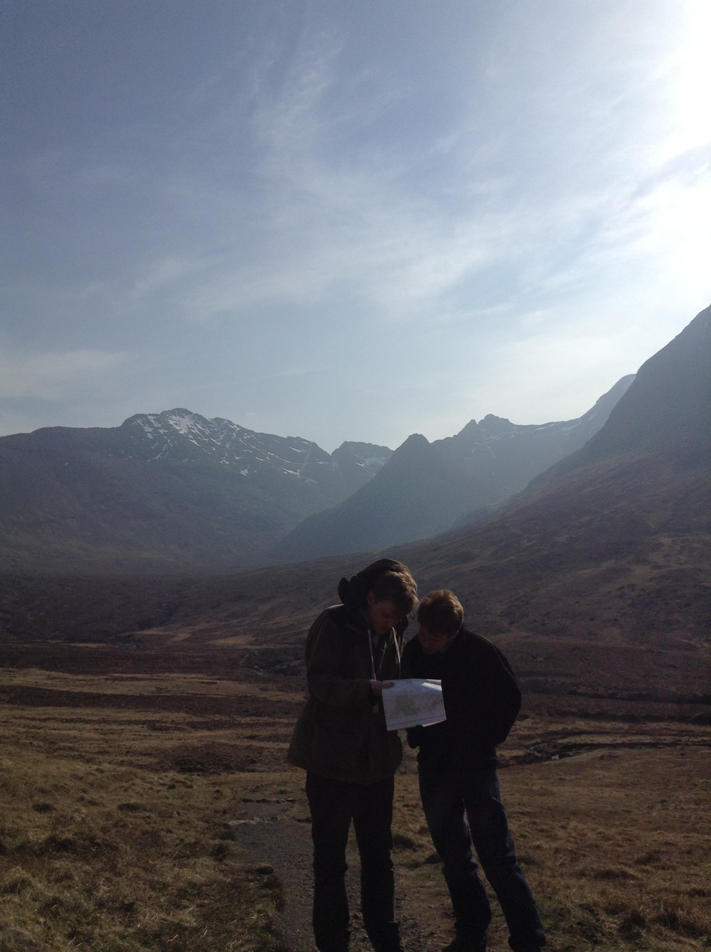 Ed and Peter, my abductors, finding the Fairy Pools on our map.