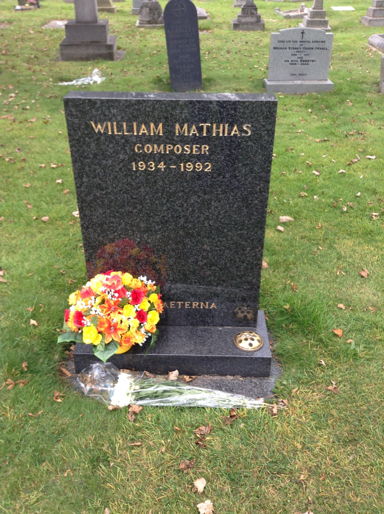 "The grave of my ""grand-teacher,"" William Mathias"
