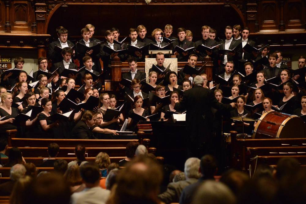 The Combined Choirs given the NYC premier of  Songs of the Questioner.