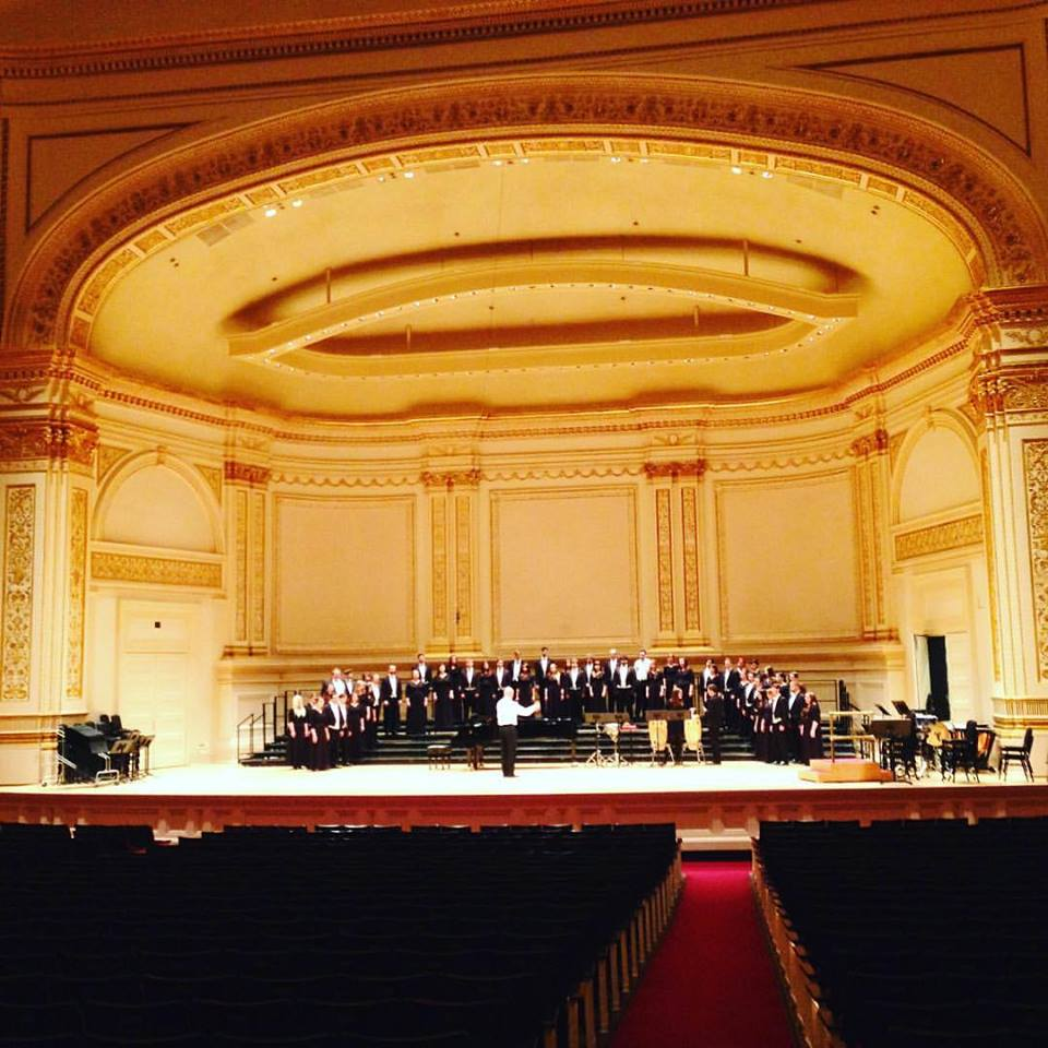 Dress rehearsal in Carnegie Hall
