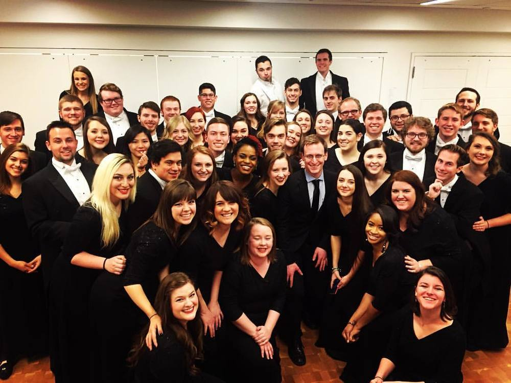 With the UMC Concert Choir.