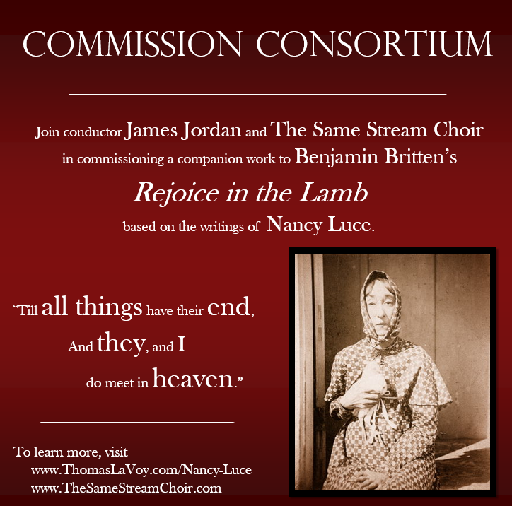 Conductor James Jordan and his Philadelphia-based choir The Same Stream will be active participants in this commission consortium project.