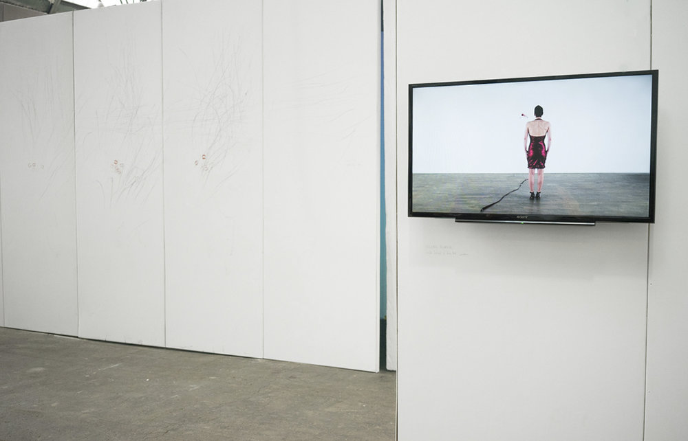 White Wall, single channel video installation view, 2016