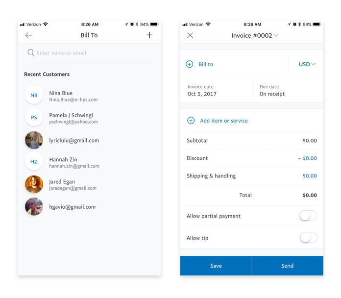 PayPal Business App THEA MANN - How to create an invoice on paypal mobile for service business