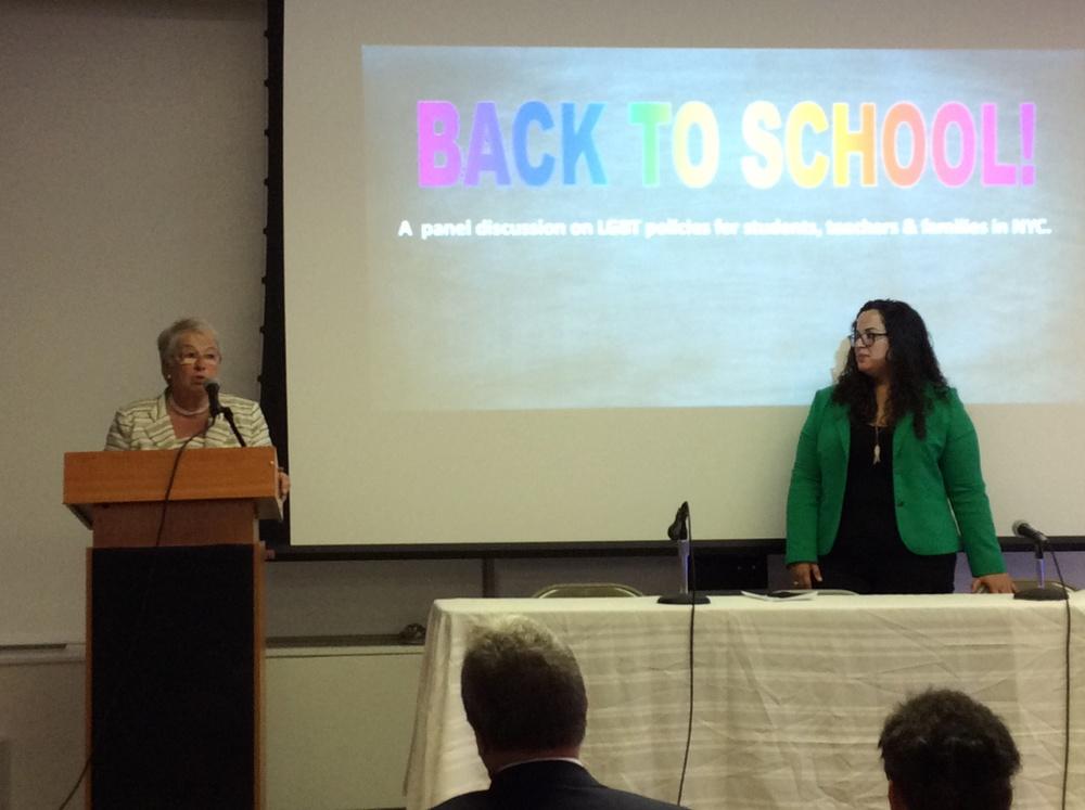 NYC Schools Chancellor Carmen Farina & SDNYC President, Eunic Ortiz
